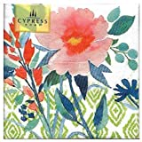 Cypress Home Watercolor Poppies III Cocktail Beverage Napkins, 40 ct