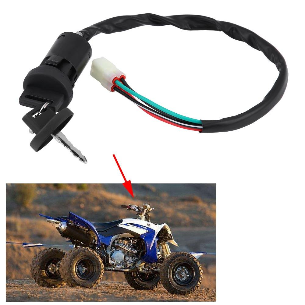 Qii lu QL06856 Motorcycle Ignition Switch Key Fits for HONDA 450 R TRX450R SPORTRAX 2004-2009 Metal and Plastic