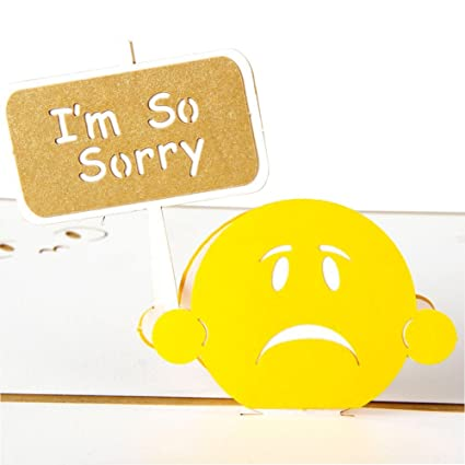 amazon com paper spiritz pop up apology card 3d sorry card for her