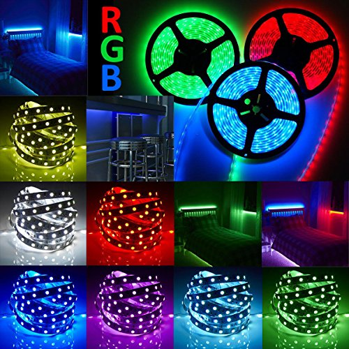 Led Strip Light Rgb 5050 Smd 12v Power 5m 3528 5630 Supply Remote Flexible 44key Us 3014 300leds White - Frames Australia Profile