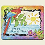Coastal Summer Beach Party Tempered Glass Cutting Board