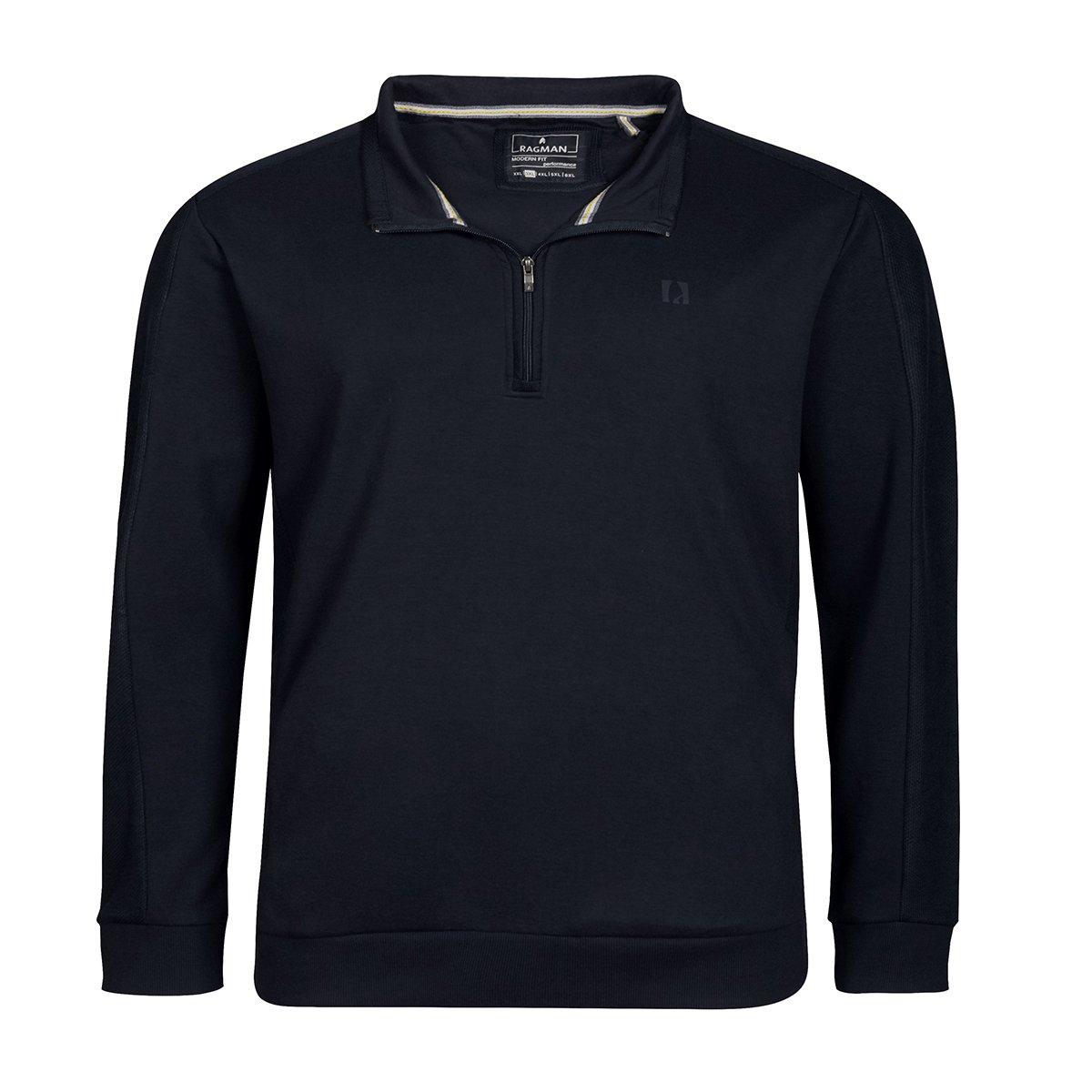 Ragman & 039;Keep dry& 039;Sweattroyer dunkelblau Übergröße