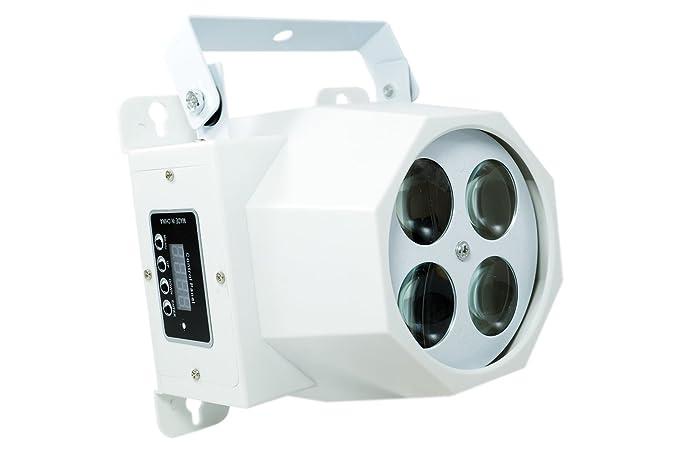 Proyector 4 LED RGBW diseños Efectos Disco Giratorios: Amazon.es ...