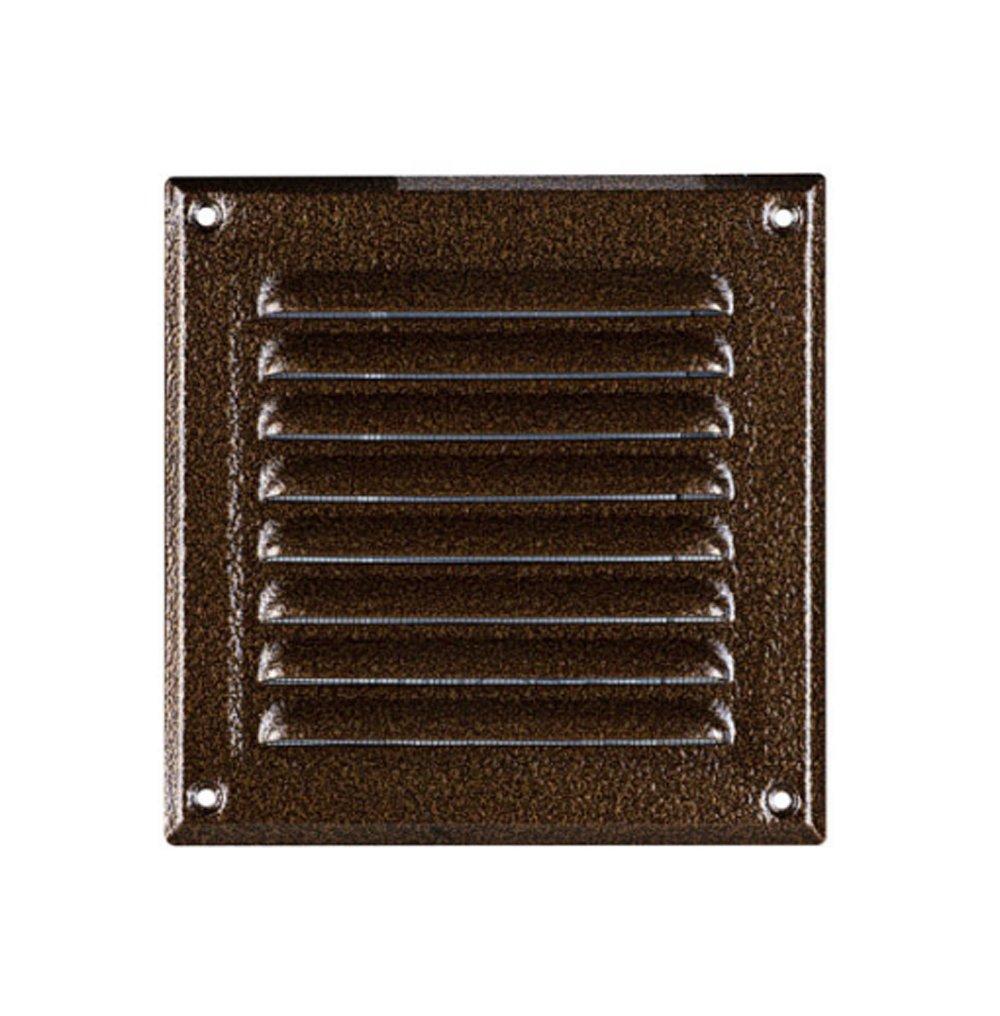 L/üftungsgitter Metall chrom 250 x 250 mm Edelstahl Optik Insektennetz Abluftgitter Zuluft Abluft Gitter L/üftung MTA 8N Lamellengitter Wetterschutzgitter