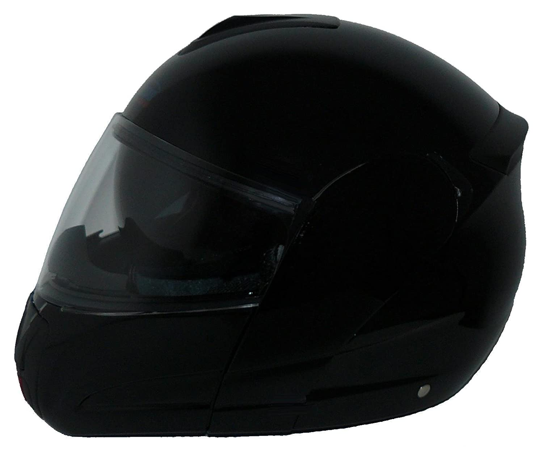 Protectwear Casco modular de moto con el visera solar integrado hel/ó negro V210-MT Tama/ño M