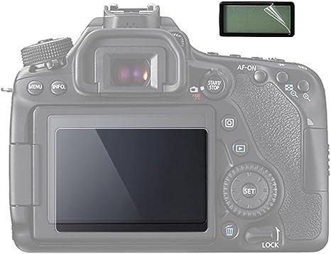 2 Unidades) Protector de Pantalla LCD para Canon EOS 70d cámara ...