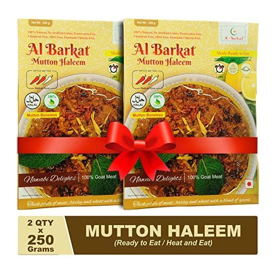 AL BARKAT Ready to Eat Mutton Haleem (250 g , Packs of 2, 2 x 250 g)