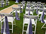 Set of 100 Lilac Wedding Chair Sash