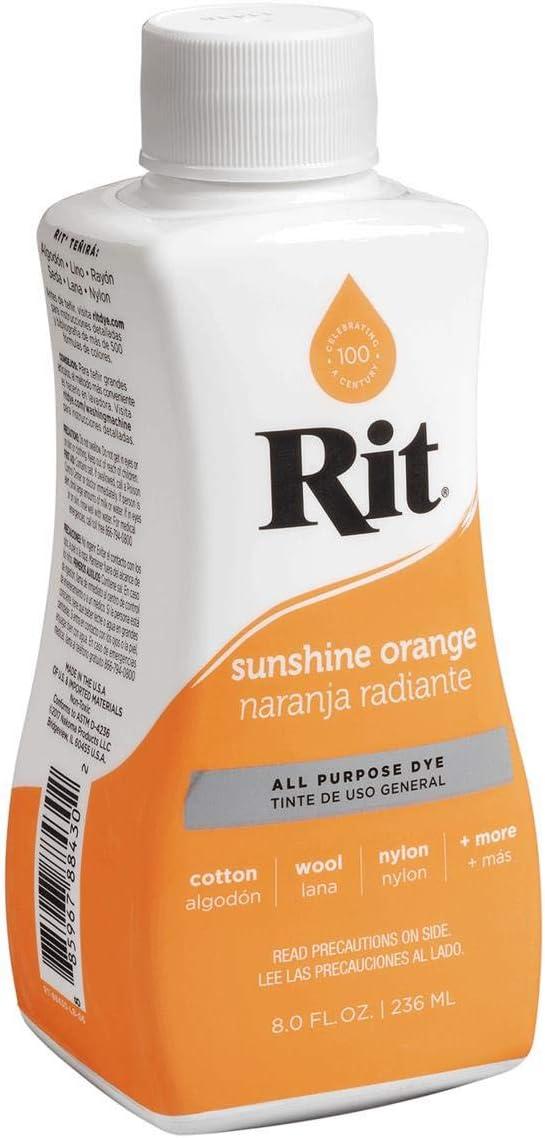 H2O Plus RIT Tinte para tejidos, color naranja radiante, 236 ml