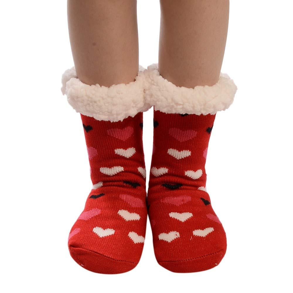 Ladies Festive Christmas Socks, Anti-Slip Floor Socks Carpet Socks, Beautytop Long Socks Ladies Winter, Women Socks Winter Socks Vintage Soft Warm For Winter Beautytop-socks