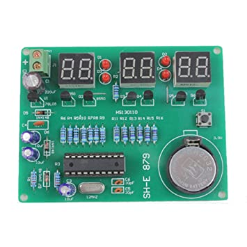 DIY kit módulo 9V-12V AT89C2051 6 Digital LED reloj electrónico componentes