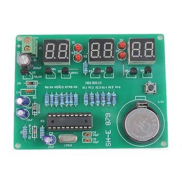 DIY kit módulo 9V-12V AT89C2051 6 Digital LED reloj electrónico componentes
