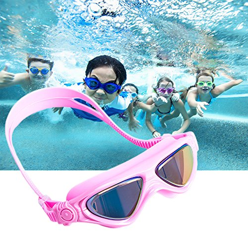 Kids Swim Goggles-Swimming Glasses with Anti-Fog, Waterproof, UV Protection,for Children and Early Teens from 5 to 16 Years Old(Pink) (Me Near Children's Glasses)
