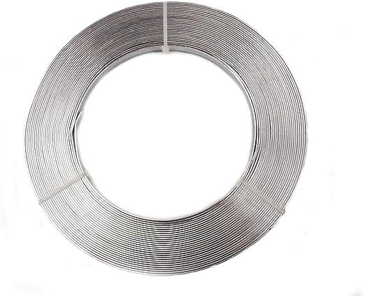 2,5/Meter Aluminiumdraht flach Silber 10/mm
