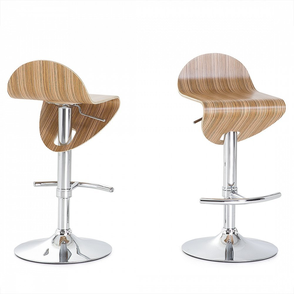 Beliani Bar stool brown - Chair - Hocker - LIVERPOOL: Beliani ...