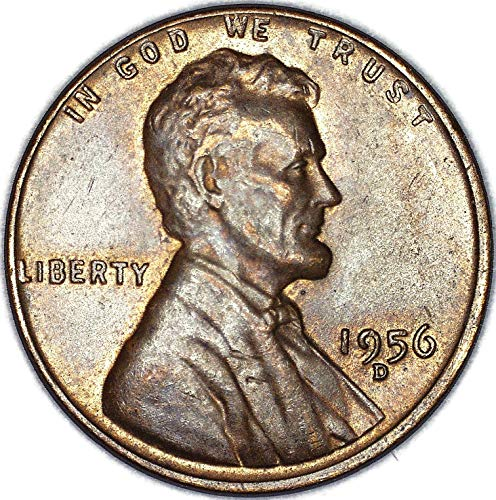 1956 D Lincoln Wheat Cent Very Fine