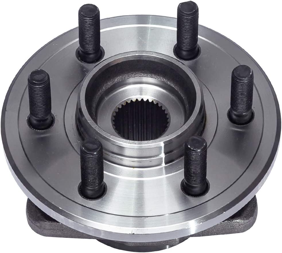 Front Wheel Hub and Bearing Assembly No ABS Pair Compatible With 1997 98 99 00 01 02 03 2004 Dodge Dakota 1998-2003 Dodge Durango 4WD Models,2-Wheel ABS 6 Lug W//o ABS AUQDD 515007 x2