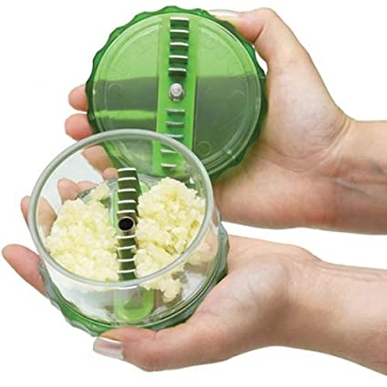 Vepson Garlic Presses Peeler Chopper Dicer For Nuts Ginger Kitchen Tool,Green