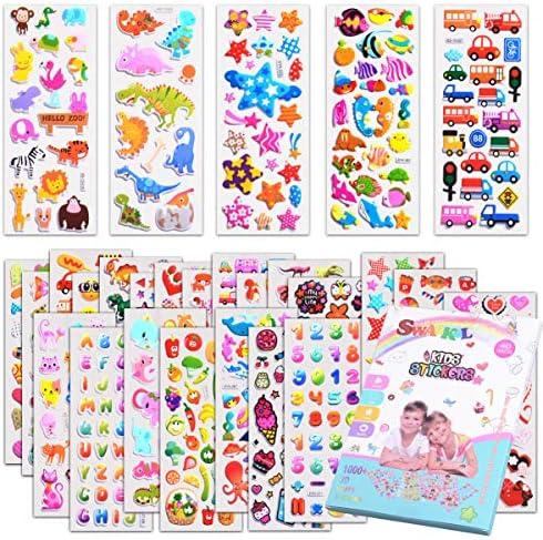 8 Different Sheets,3D Puffy Sticker for Kids,Bulk Scrapbooking,Dinosaur /& Space Stickers for Boys Girls Teachers Birthday Gift Kids Stickers 200 Party Supplies Reward