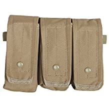 Fox Outdoor Products Rip-Away AR-15/AK 47 Triple Mag Pouch Coyote