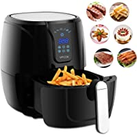 Air Fryer Vpcok Heath Fryer Healthy Cooker with Rapid Air Circulation System, 1300W, Black, Oil Free with Adjustable Temperature Control and Timer Healthy and Low Fat Cooking