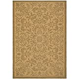 Safavieh Courtyard Collection CY6634-39 Natural and Gold Indoor/Outdoor Area Rug (4′ x 5'7″) Review