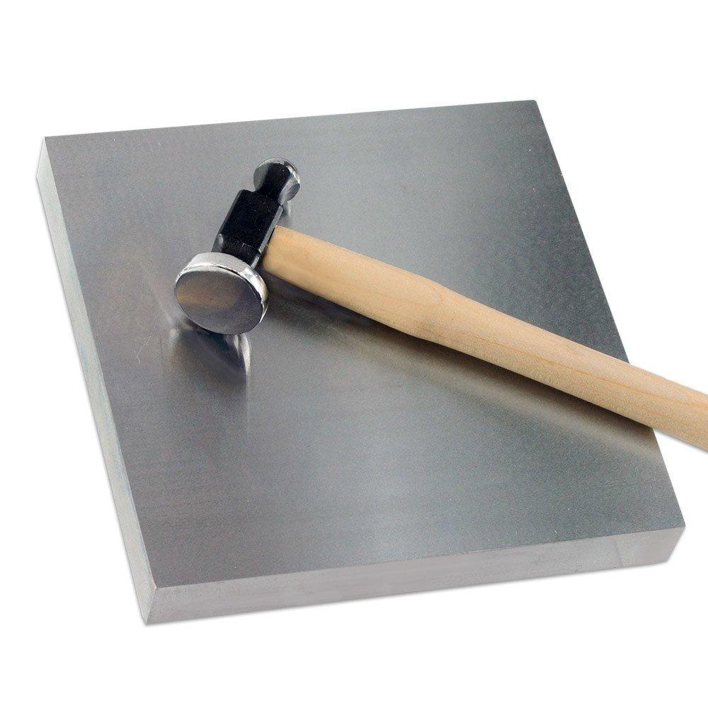 Ultra-Large Jeweler's Solid Steel Bench Block 6 x 6 x 3/4 Jeweler' s Tools 4336835649