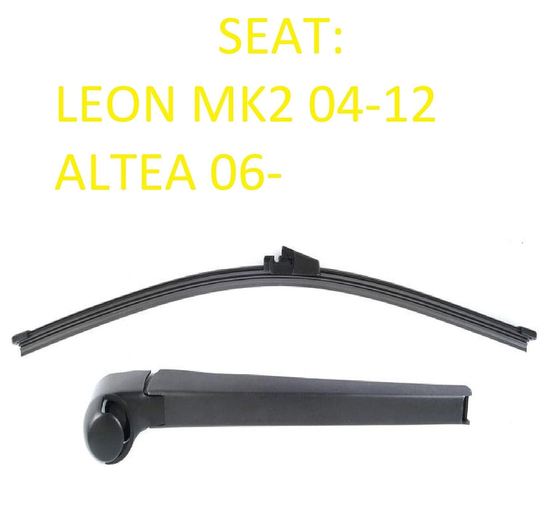 Seat Leon Mk2 MKII Altea Aero trasera limpiaparabrisas hoja Set Inc Cap - Ranura de lavado: Amazon.es: Coche y moto