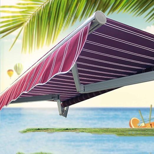 AOCT SHOP-Canopy Toldo Manual 2.5 M - Patio De JardíN/Toldo Manual/Funda para Lluvia/Toldo De BalcóN/Toldo/Asa De Enrollamiento De Correa RetráCtil: Amazon.es: Jardín