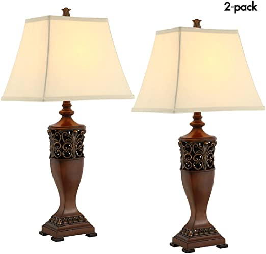 Amazon.com: Juego de lámparas de mesa para salón o ...