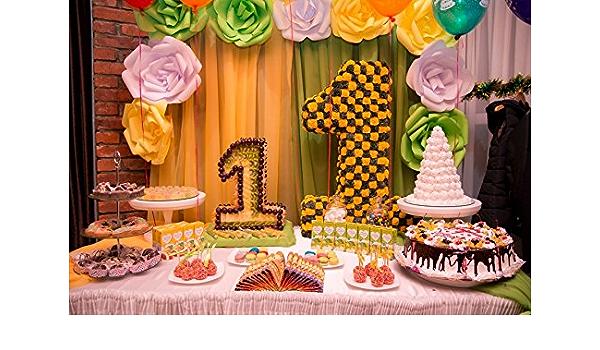 Leowefowa 8x6ft White Wood Board Backdrop Vinyl Photography Background Colorful Cup Cake Children Kids Portrait Birthday Party Background Photo Vedio Studio Props