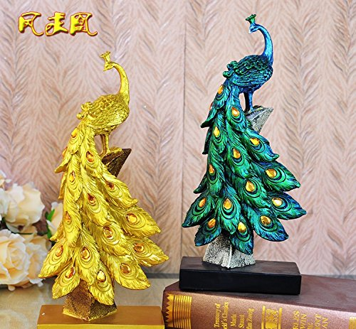European peacock ornaments gift wine decor Home Furnishing new living room furniture zj01251124 ( Color : Green ) by Supper pp