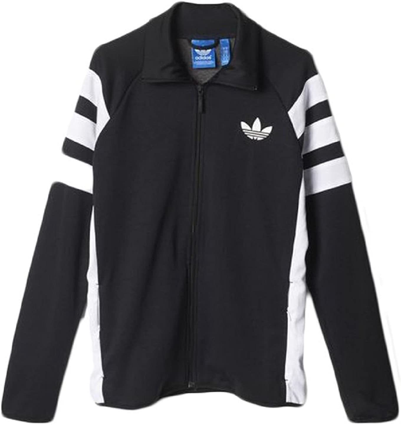 Mansedumbre Engaño Conveniente  Adidas MENS TREFOIL FC TRACK JACKET AJ7677 (XL) BLACK: Amazon.ca ...