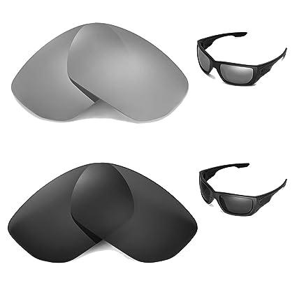 ead1535ff95 Amazon.com  Walleva Polarized Titanium+Black Replacement Lenses for Oakley  Style Switch Sunglasses  Sports   Outdoors