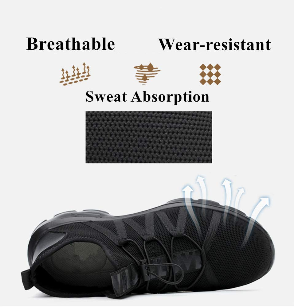 Summer Breathable Men Safety Shoes Steel Toe Work Safety Boots For Men Wear-resisting Fashion Safety Work Shoes by AiKim (Image #5)