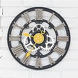 Wall Roman Digital clock European industry retro individuality creative clock living room bedroom clock A