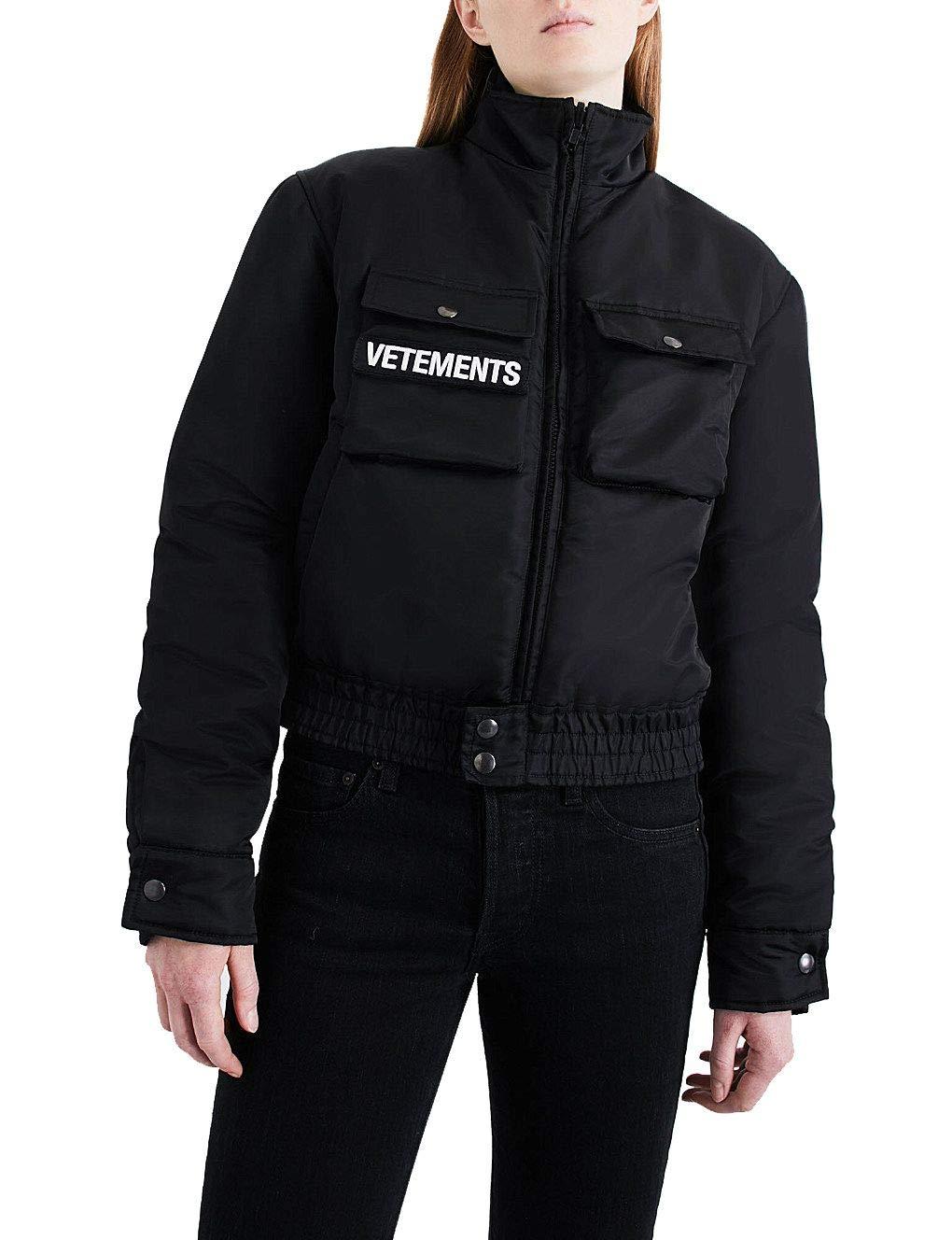Vetements Women's WAH18JA19BLACK Black Polyamide Outerwear Jacket