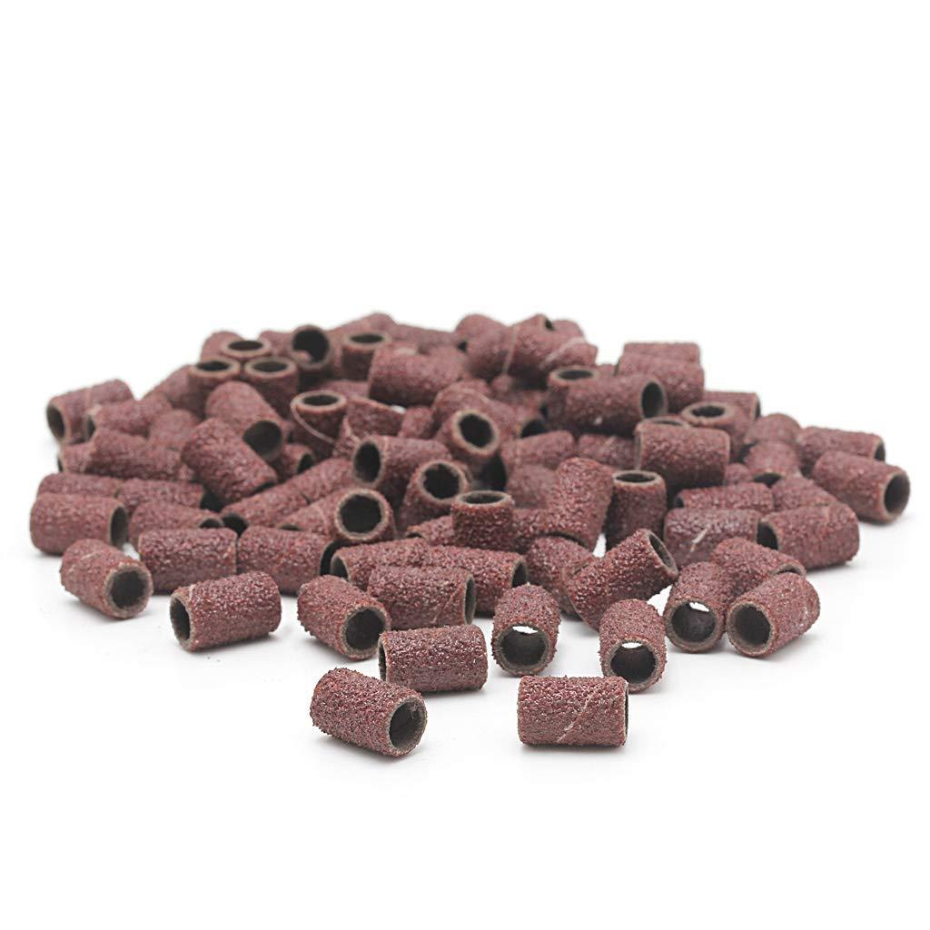 Qianqian56 Lot de 100 manchons de pon/çage 2 mandrins pour meuler le papier abrasif