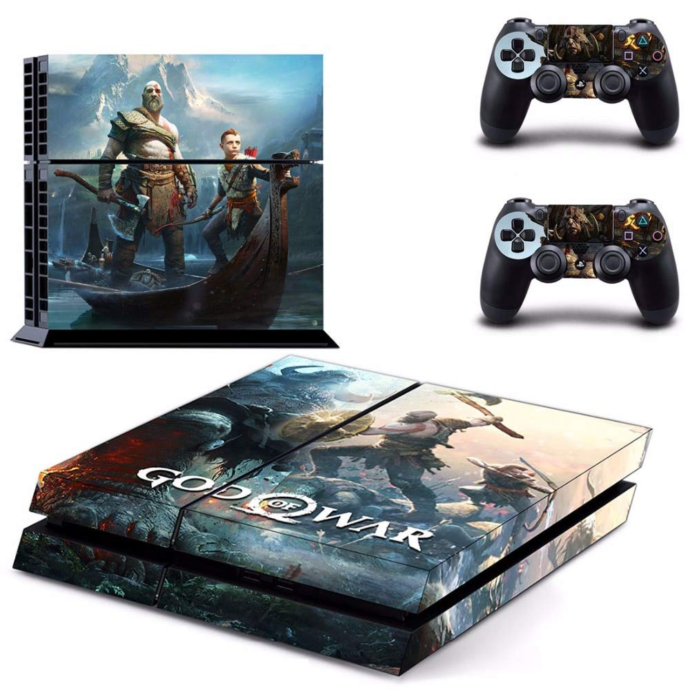 Homie store ps4 pro skin ps4 skins ps4 slim sticker game god of war 4 ps4 skin sticker decal for sony playstation 4 console and 2 controllers ps4