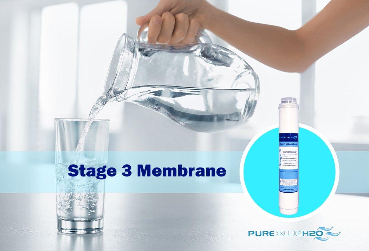 Pure Blue H2O 50 Gallon Per Day Stage 3 Membrane Filter