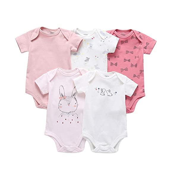 Baiomawzh(5 Pack) Ropa Bebe Niña Niño Recien Nacido Verano Monos ...