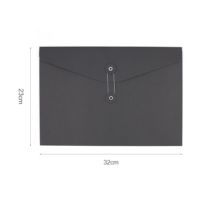 Zhi Jin 5pcs grueso Kraft papel A4/carpeta de archivos Organizador Bolsa extensible soporte de documentos con cierre con cadena suministros de oficina color A4-Horizontal//32*23cm