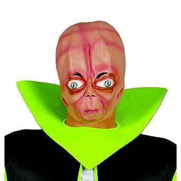 Máscara ET extraterrestre Careta alien Mascarilla alienígena Complemente vestido Hallowen Antifaz carnaval marciano Accesorio disfraz noche