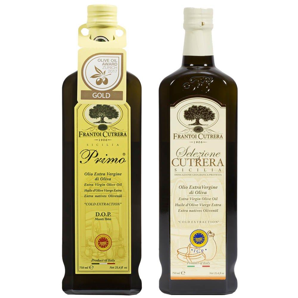 Frantoi Cutrera - Primo & Selezione Extra Virgin Olive Oil Set of 2 by Frantoi Cutrera