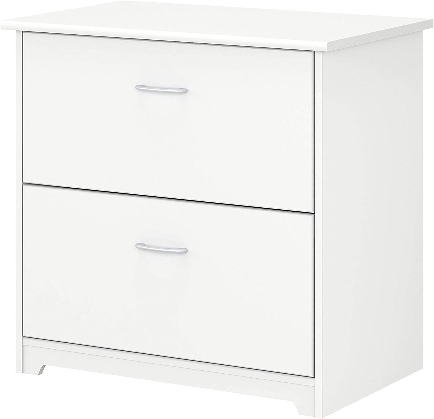 Bush Furniture Cabot 2 Drawer Lateral File Cabinet, White