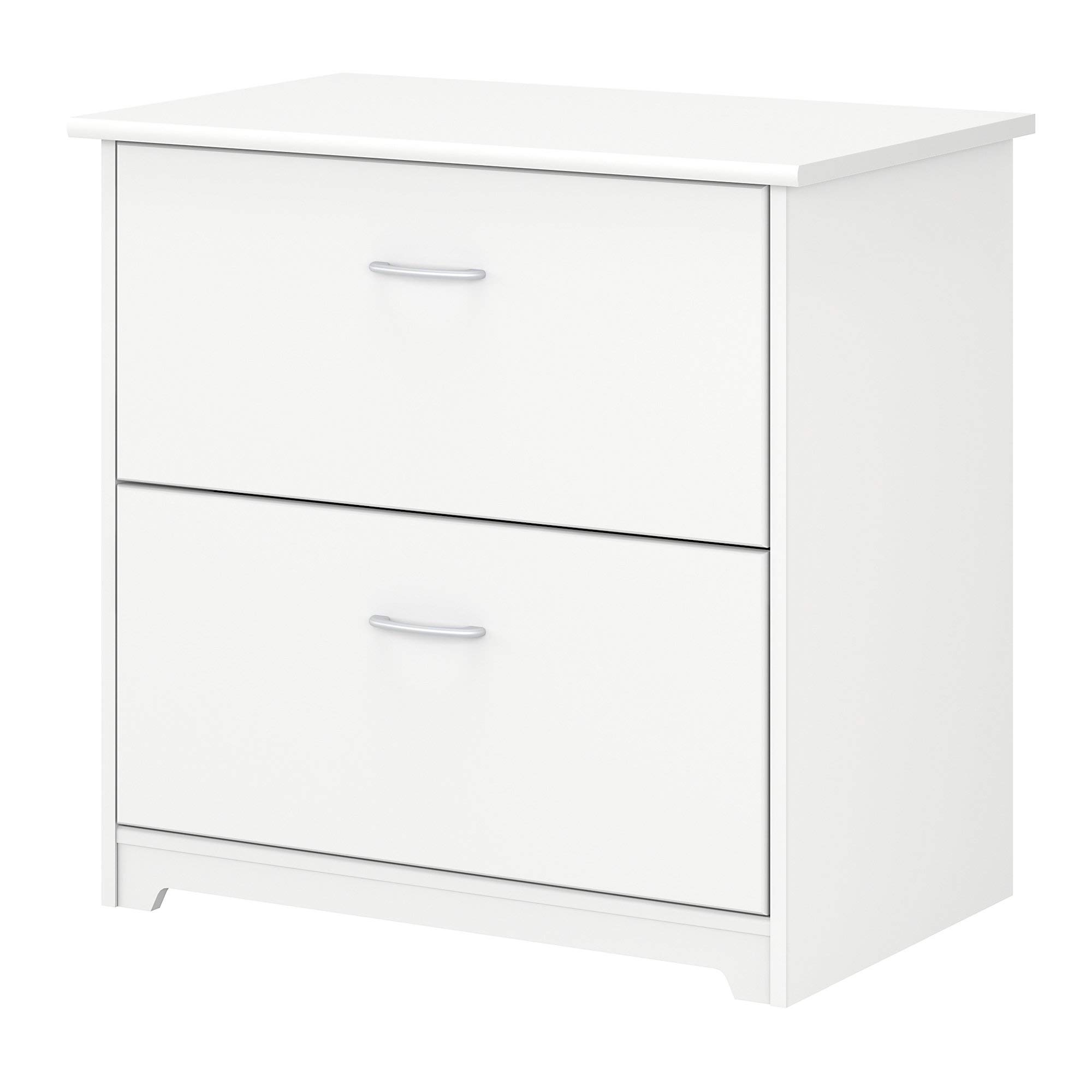 Bush Furniture Cabot 2 Drawer Lateral File Cabinet, White by Bush Furniture