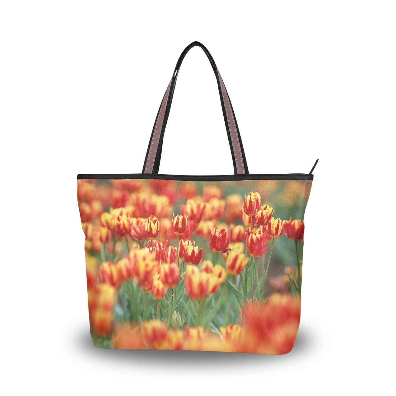 Women Large Tote Top Handle Shoulder Bags Flower Patern Ladies Handbag