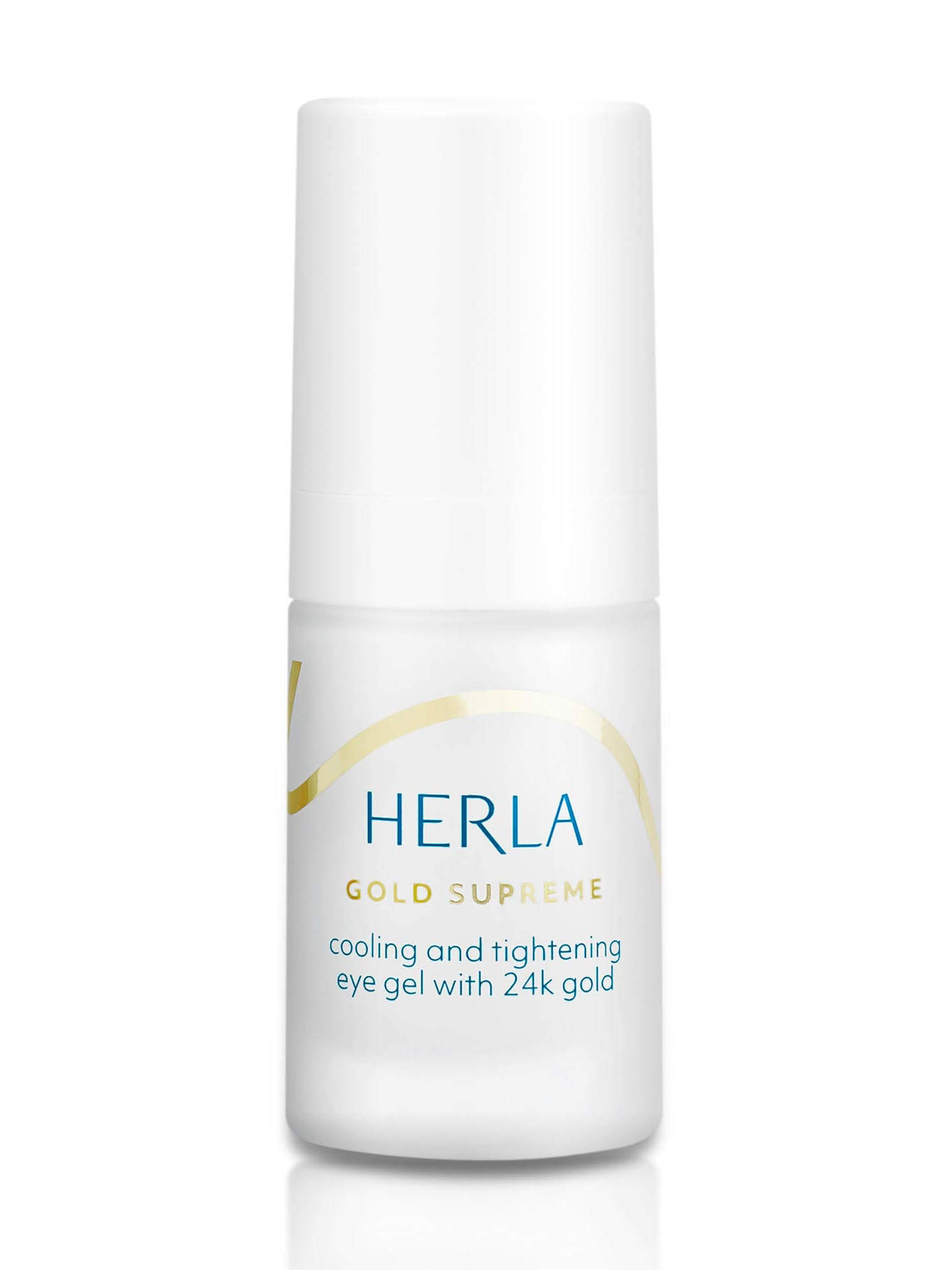 Herla Beauty - Gold Supreme Line | Cooling and Tightening Eye Gel with 24k Gold - Lifts and Brightens Skin
