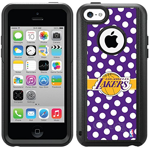 Coveroo Commuter Series Cell Phone Case For iphone 5c  - Los Angeles Lakers - Polka Dots design