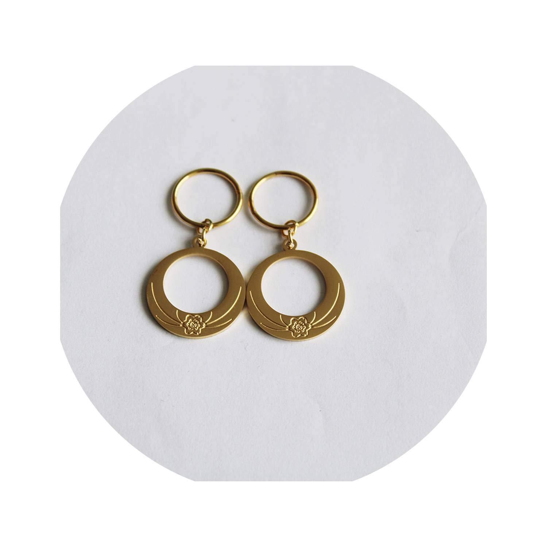 Stainless Steel Flower Shape Earrings for Women Girls 24K Gold Color Kiribati Earrings New Zealand Jewelry Gifts